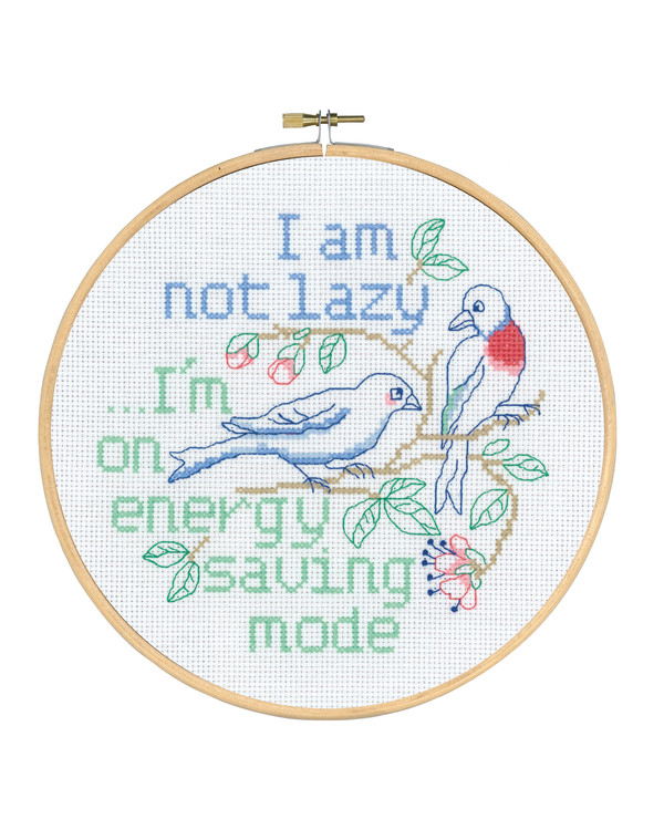 Kirjontapakkaus Taulu I'm not lazy