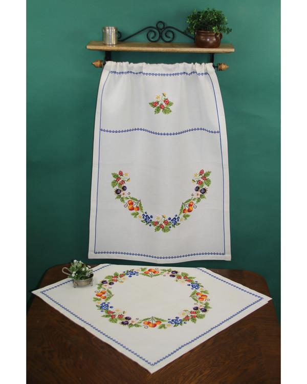 Broderikit Paradehåndklæde Bær