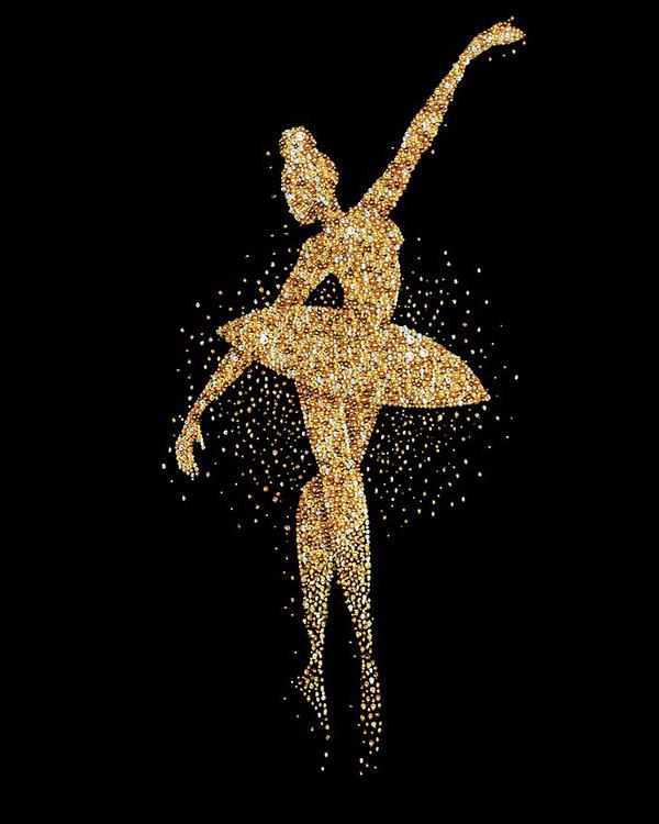 Perlenstickerei Ballerina