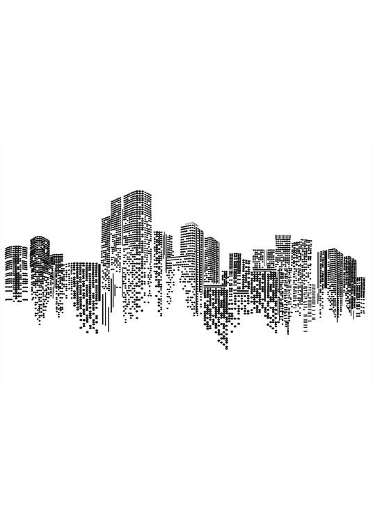 Perlenstickerei Stadt