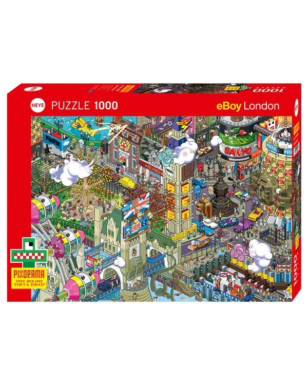 Pussel Cartoon London 1000 bitar