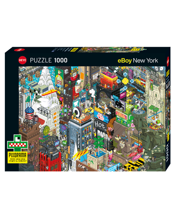 Pussel Cartoon New york 1000 bitar