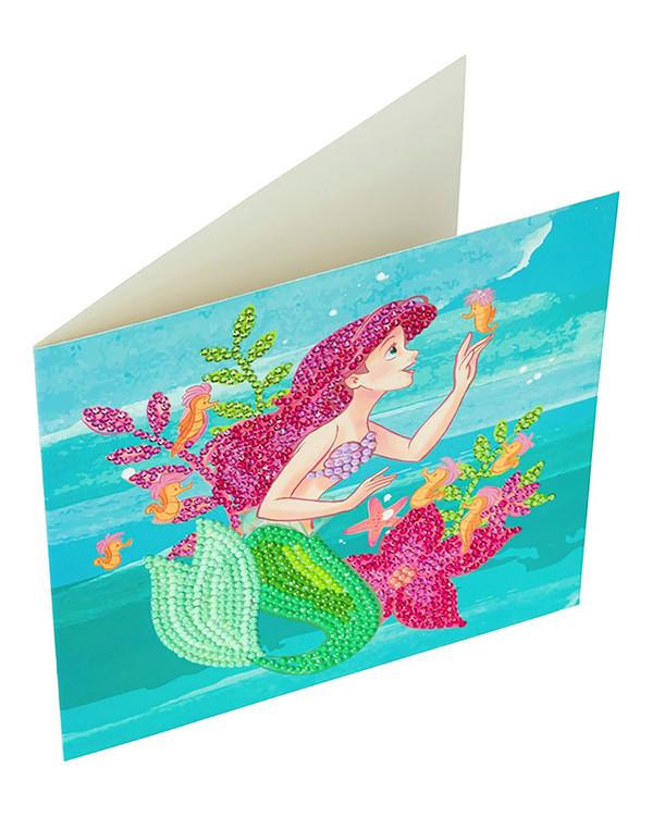 Crystal Art kortti Merenneito Ariel