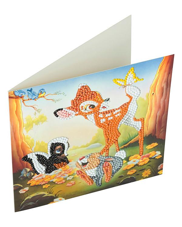 Crystal Art kortti Bambi