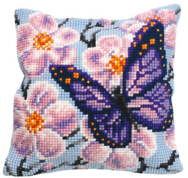 Kissen Lila Schmetterling