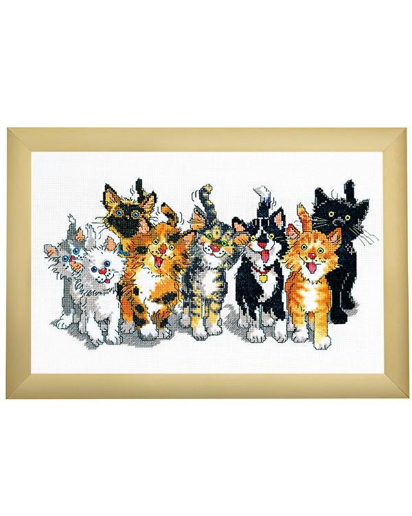 Broderikit Billede Kattebanden