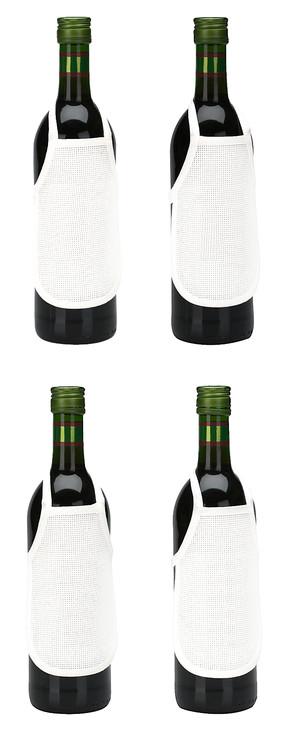 Flaskeforklær uten garn og mønster 4-pk