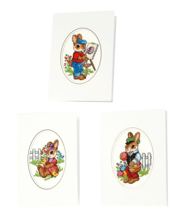 Kort Påskharar 3-pack