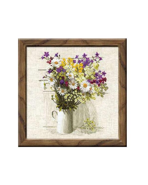 Broderikit Tavla Vilda blommor