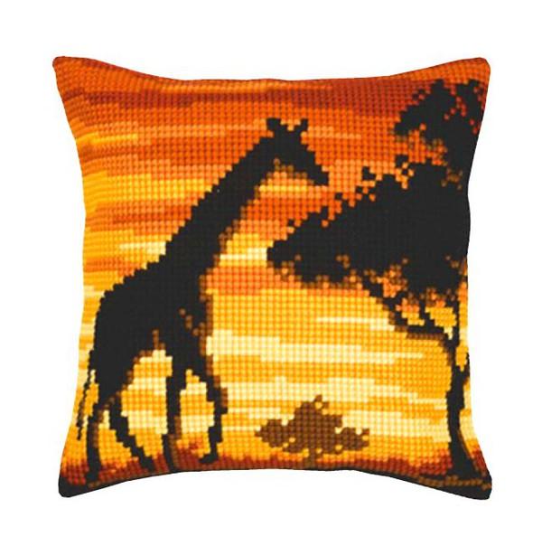 Broderikit Kudde Giraff