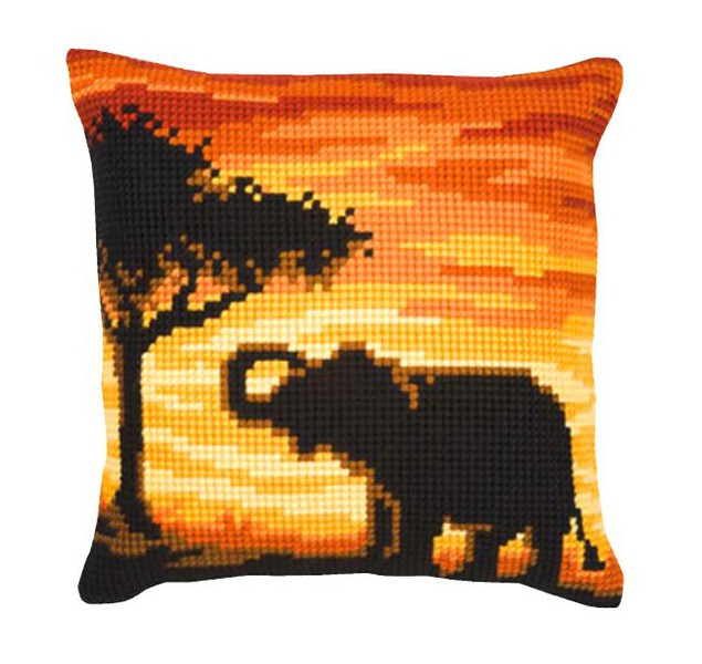 Broderikit Kudde Elefant