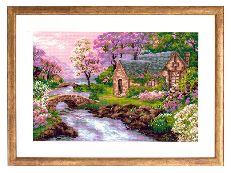 Broderikit Tavla I vårens färger