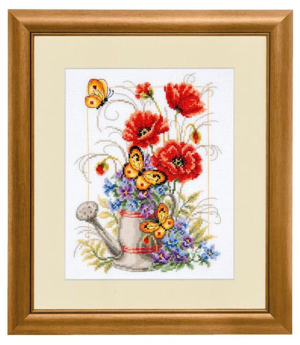 Bild Blumen in Gießkanne