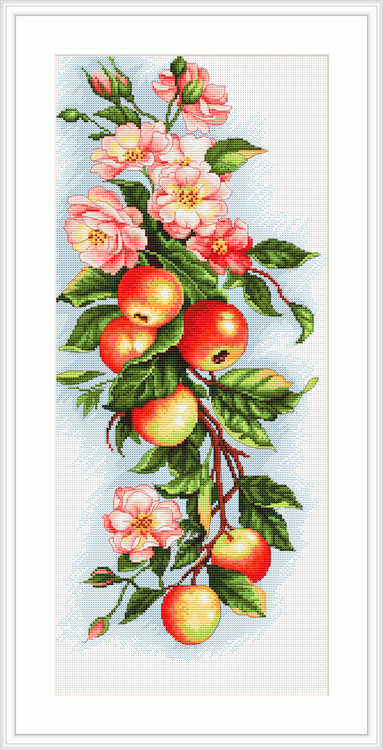 Taulu omenapuun oksa