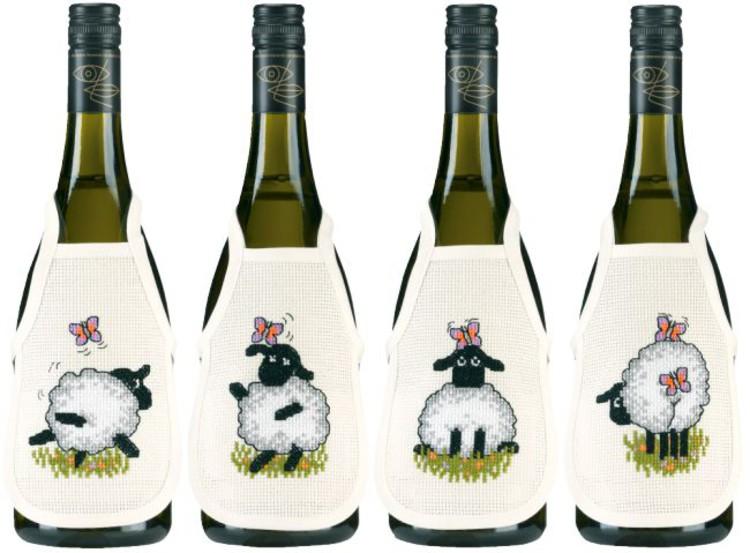Flaskförkläden Lekfulla får 4-pack