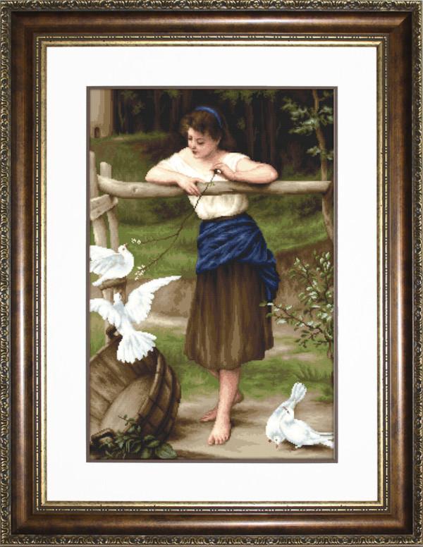 Billede Pigen og duerne