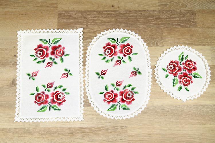Duksett Store roser 3-pk
