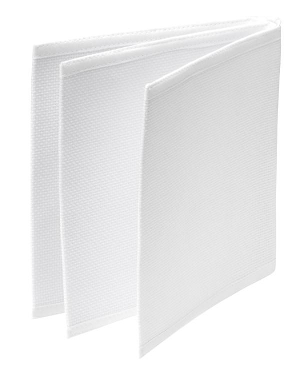 Ketselukirja valkoinen ilman lankaa ja mallia