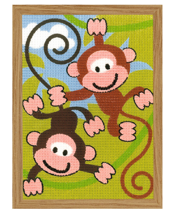 Kanavakangastaulu Hauskat apinat