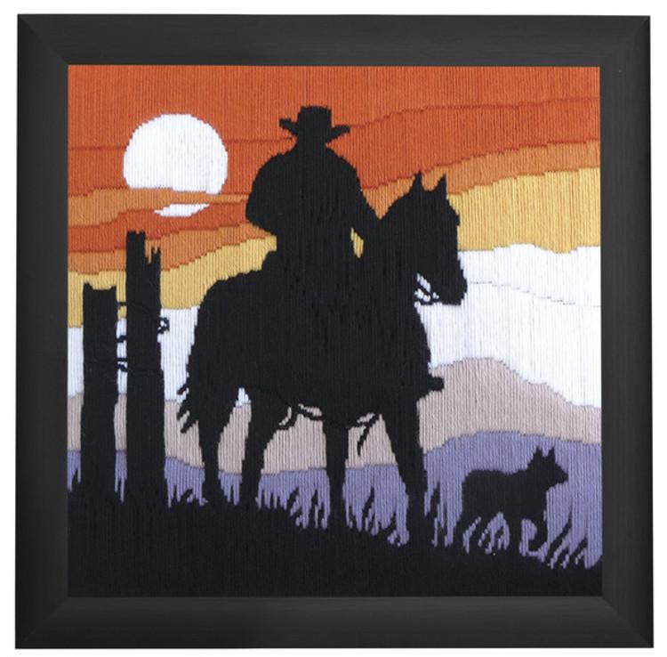 Langstichbild Cowboy