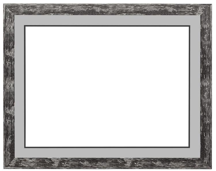 Ramme sort/gråmeleret 42x57 cm, dobbelt passepartout