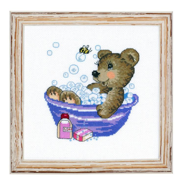 Bild Teddy in der Badewanne