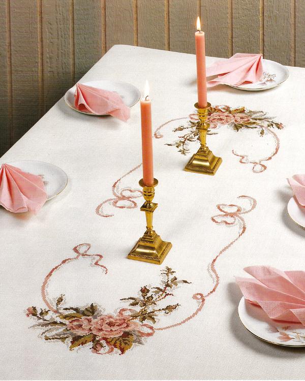 Middagsduk Rosa roser