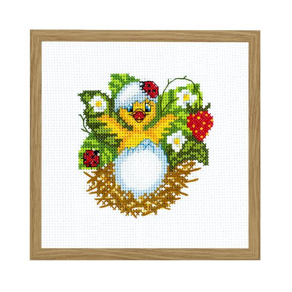 Broderikit Tavla Nykläckt kyckling