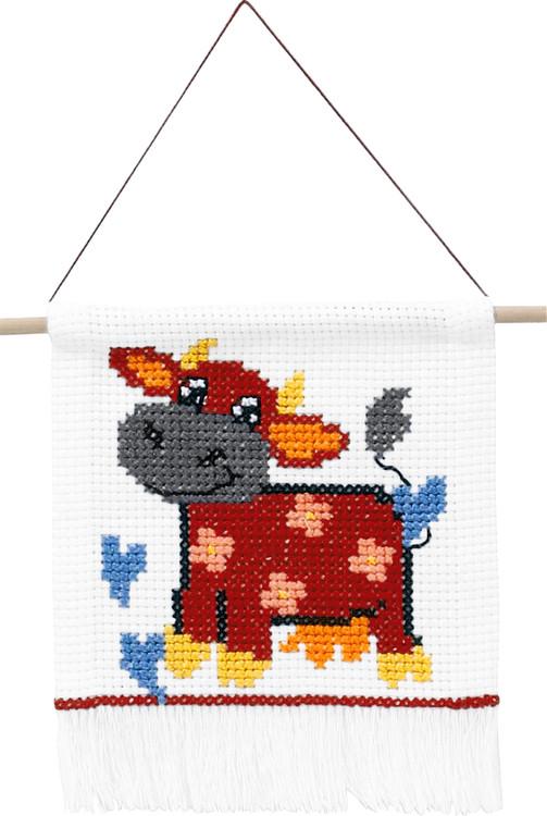 Seinävaate Kukallinen Lehmä