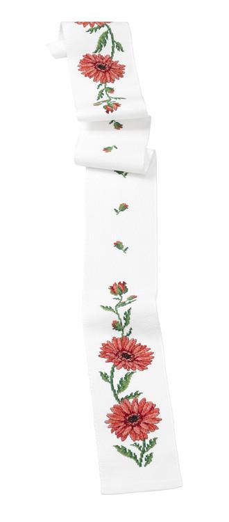 Broderikit Festremsa Rosa blommor