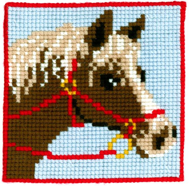Kanavakangastyö Hevonen