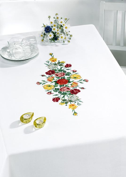 Middagsduk Røde og gule roser