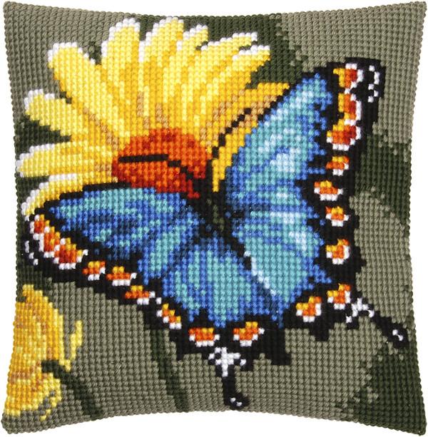 Kissen Blauer Schmetterling