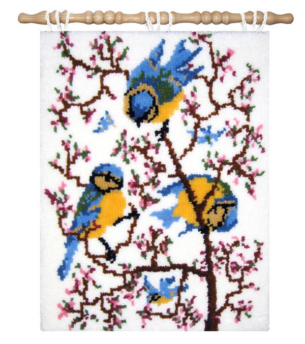 Ryatæppe/vægbillede I kirsebærtræet