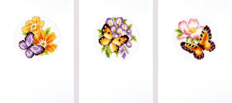 Kort Sommarfjärilar 3-pack
