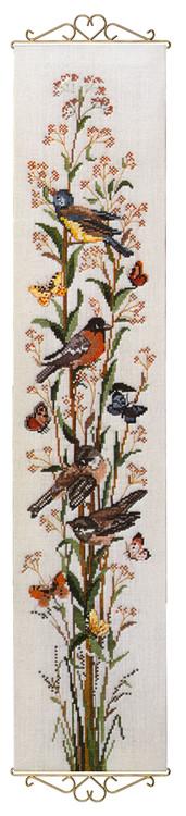 Veggteppe Fugler og sommerfugler