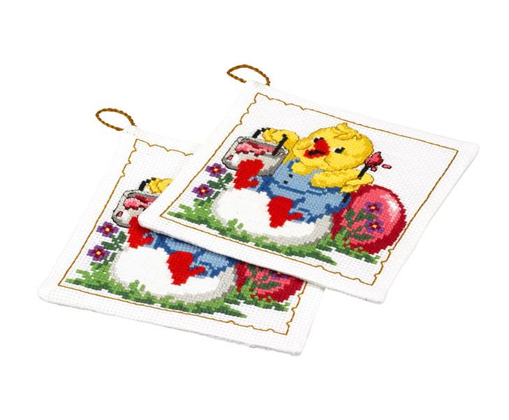 Grytlappar Kyckling målar 2-pack
