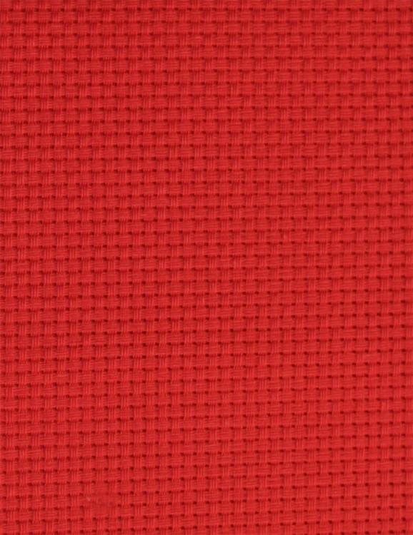 Stof Aida rød 5,4 kvadr. pr. cm