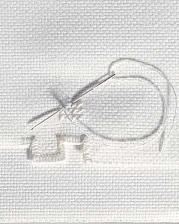 Vev Hardanger hvit 9 tråder/cm