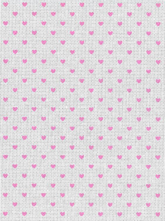 Vev Aida hvit/rosa hjerter 5,4
