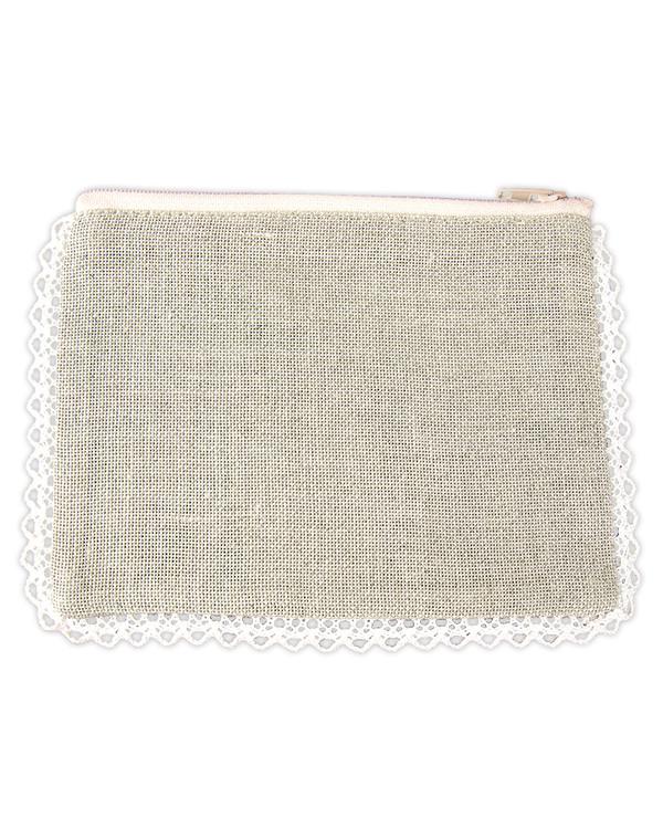 Börs oblekt linne/vit utan garn och mönster