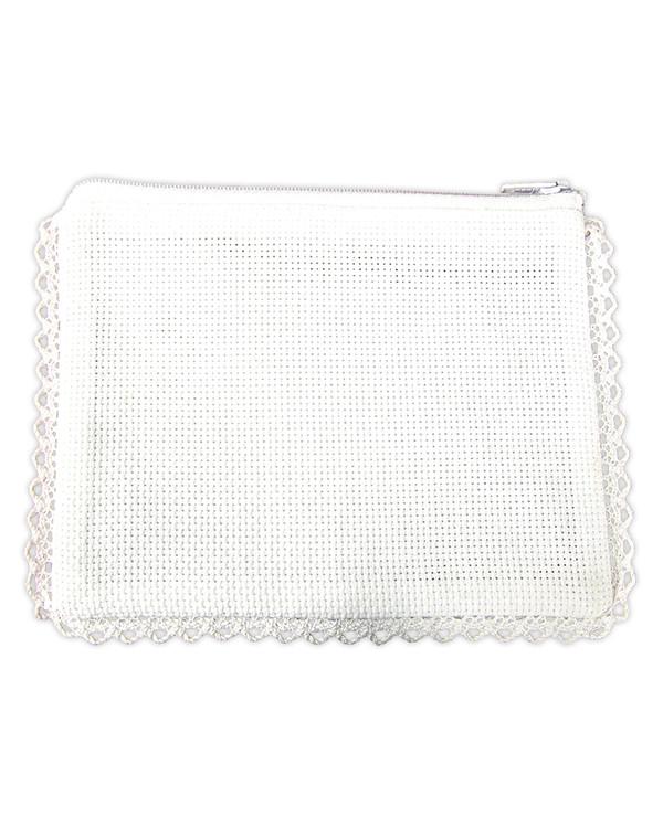 Börs vit aida/vit utan garn och mönster