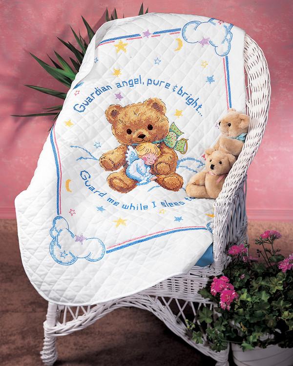 Broderipakke Babyteppe Barnas skytsengel