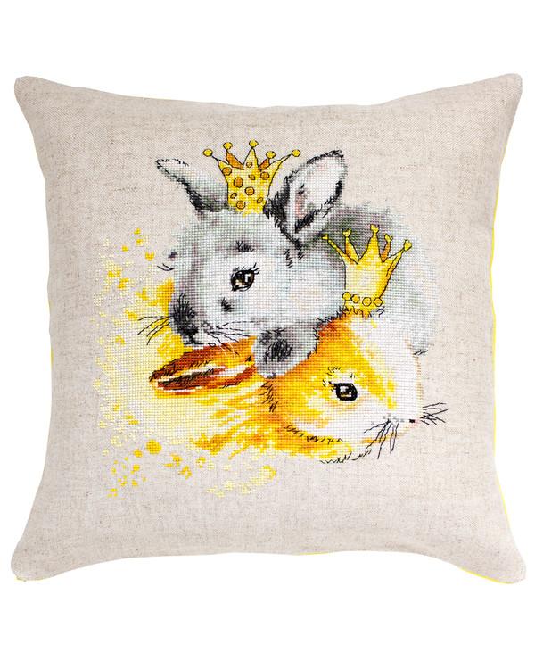 Broderikit Kudde Kungliga kaniner