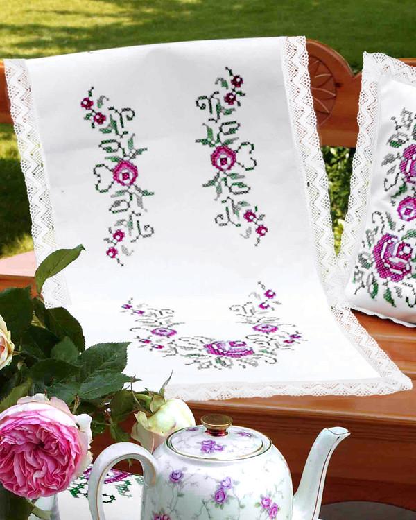 Kaitaliina Klassiset ruusut lankoineen tai ilman lankoja