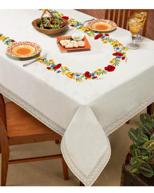 Middagsduk Krans uten garn