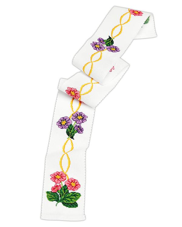 Broderikit Festremsa Färgglada blomm