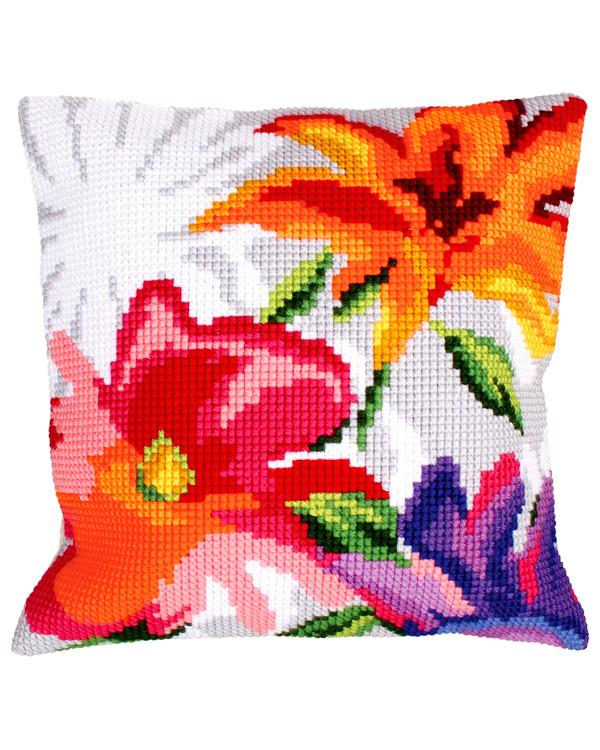 Tyynynpäällinen Värikkäät kukat