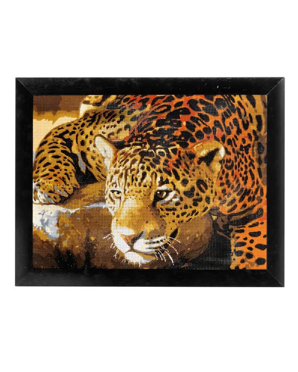 Stramin Jaguar auf Jagd mit oder ohne Garn