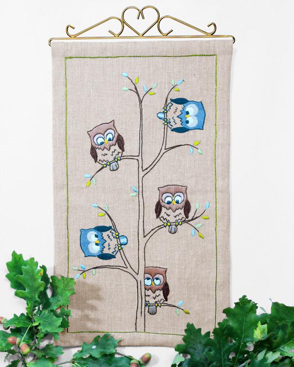 Seinävaate Pöllöt puussa